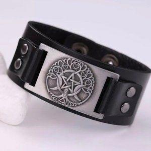 Pagan Wiccan Tree of Life  bracelet men